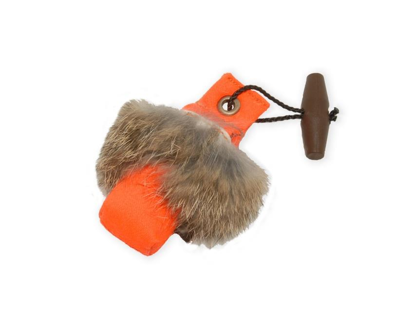 "Mini Dummy ""Key Case with fur"" orange"
